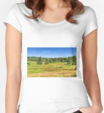 Lush Fields Women's Fitted Scoop T-Shirt