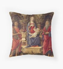 Botticelli - Madonna With Saints (1485) Throw Pillow