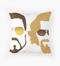 The Dude and Walter Throw Pillow