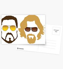The Dude and Walter Postcards