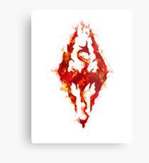 Fus ro dah - Fire Metal Print