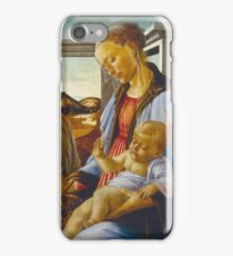 Botticelli - Virgin And Child With An Angel (1470 - 1475) iPhone Case/Skin