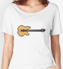 Pixel King Bass Guitar Women's Relaxed Fit T-Shirt