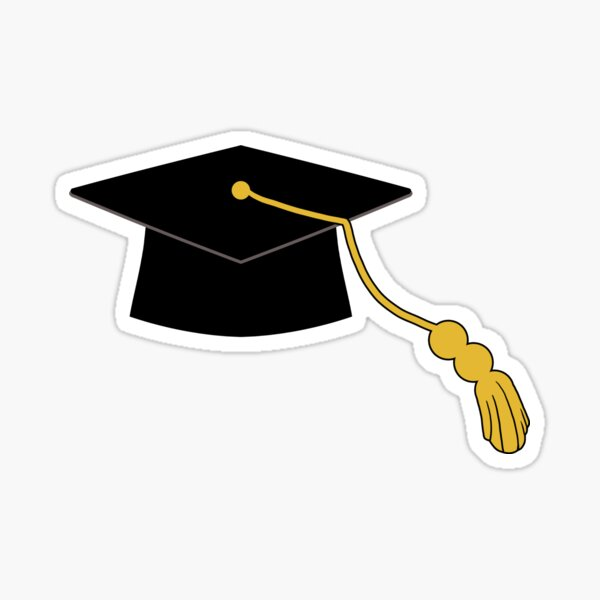 Gorro de graduación Pegatina