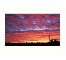 Hallow sunrise Art Print
