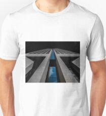 Opera Tower Reflecting Sky   Frankfurt Am Main, Germany T-Shirt