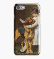 Briton Riviere - Reading Lesson, Compulsory Education iPhone Case/Skin