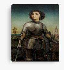 Joan Of Arc In Armour Canvas Print