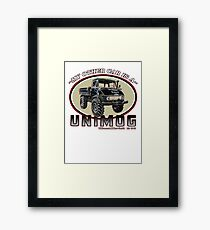 My other car is a UNIMOG Framed Print