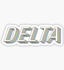 DELTA 3D rainbow greek letter Sticker