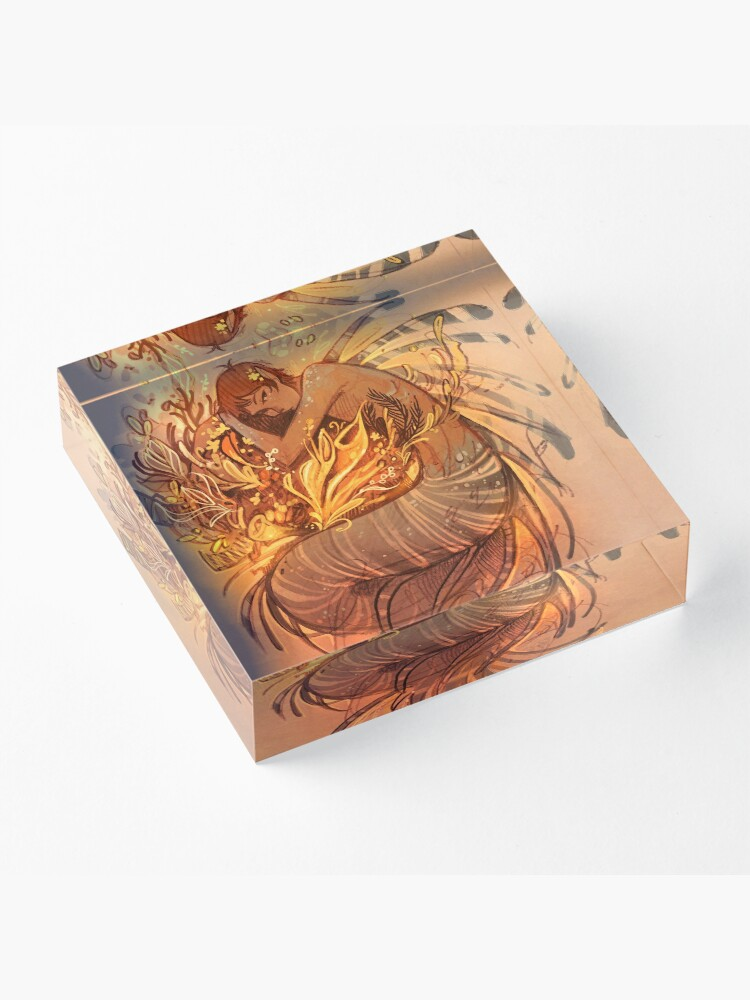 Alternate view of Heart of Gold Acrylic Block