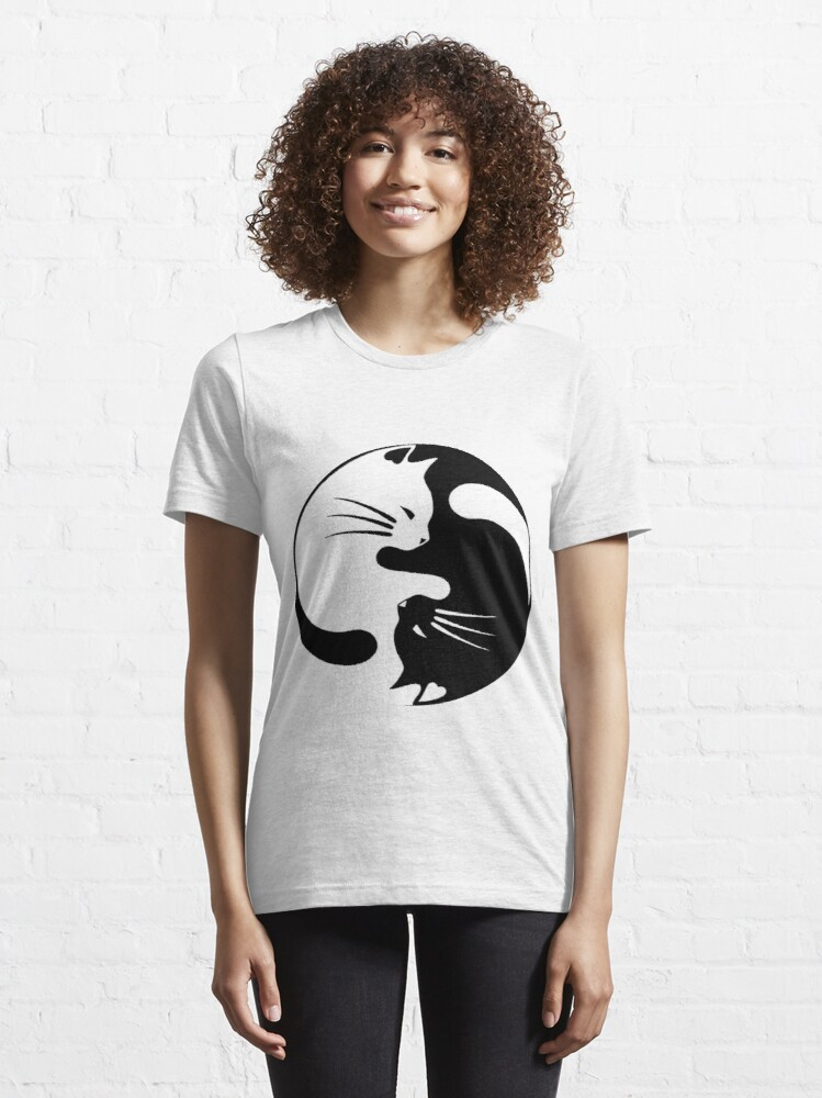 Alternate view of Ying yang cat Essential T-Shirt