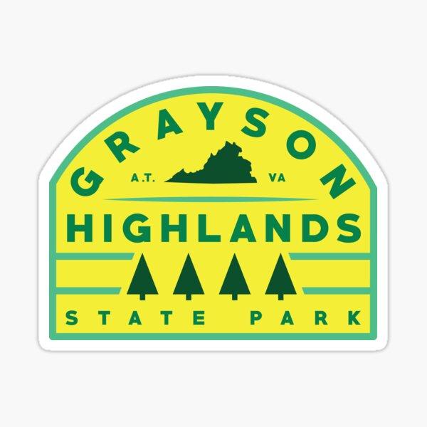 Grayson Highlands State Park stickers Sticker