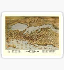 Antique Map of Vancouver (1898) Sticker