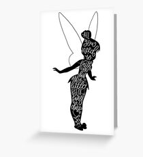 Tinkerbell Quote, from Peter Pan Greeting Card