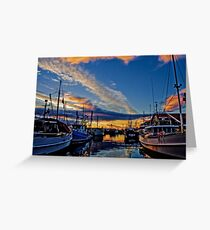 Hobart Docks Greeting Card