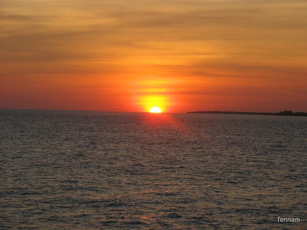 Bahia Honda Park Sunset on the Water by fennam