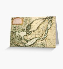 The Isles of Montreal, Canada antique map circa 1761 Greeting Card