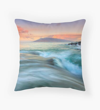 Folding the Sea Throw Pillow