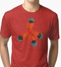 Just An Orange Methane Molecule Tri-blend T-Shirt