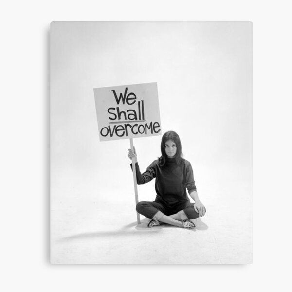 Gloria Steinem We Shall Overcome Metal Print