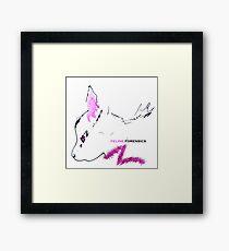 Furry Fuscia Feline Forensics logo Framed Print
