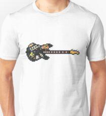 Pixel Punk Stickered Precision Bass Guitar T-Shirt