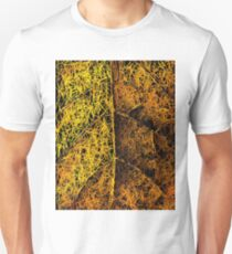 drawing and painting rotten yellow leaf texture abstract  T-Shirt
