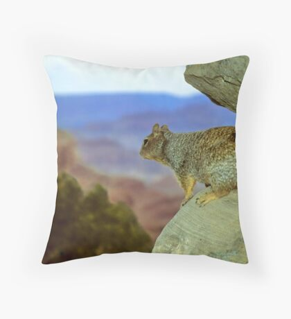 Squirrel with a View Throw Pillow