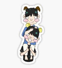 Puppy Shoma and Pooh Bear Yuzu Sticker