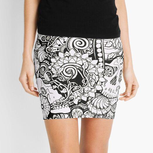 Skulls All Over Mini Skirt