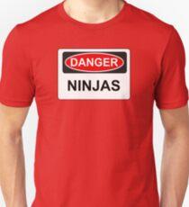 Danger Ninjas - Warning Sign T-Shirt