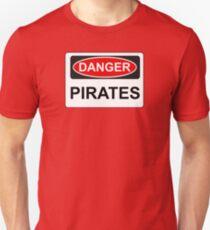 Danger Pirates - Warning Sign T-Shirt