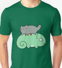 Chameleon and Tiny Cat T-Shirt
