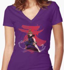 MAkuma Women's Fitted V-Neck T-Shirt