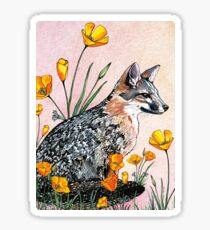 Channel Island Fox (Sunset Sky) Sticker