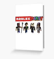 Roblox Party Greeting Card