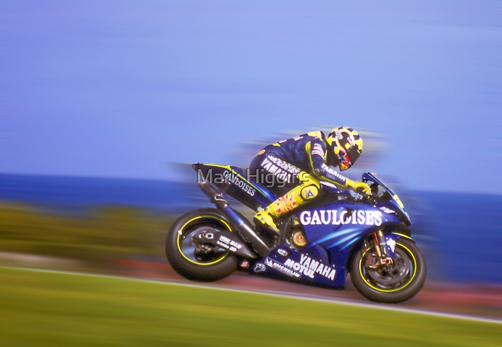 Rossi wins again. Phillip Island Oct 2004 by Mark Higgins