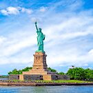 Statue Of Liberty Art - New York City Landmark On Liberty Island  by Mark Tisdale