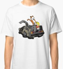 CALVIN AND HOBBES DELOREAN Classic T-Shirt