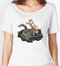 CALVIN AND HOBBES DELOREAN Women's Relaxed Fit T-Shirt
