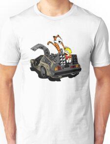CALVIN AND HOBBES DELOREAN Unisex T-Shirt