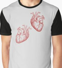 Anatomical Timelord Double Heart Graphic T-Shirt