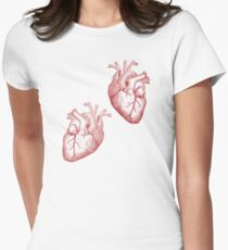 Anatomical Timelord Double Heart Womens Fitted T-Shirt