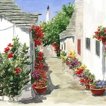 Flowers of Alberobello by jenofuto