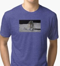 Astronaut On Moon Tri-blend T-Shirt