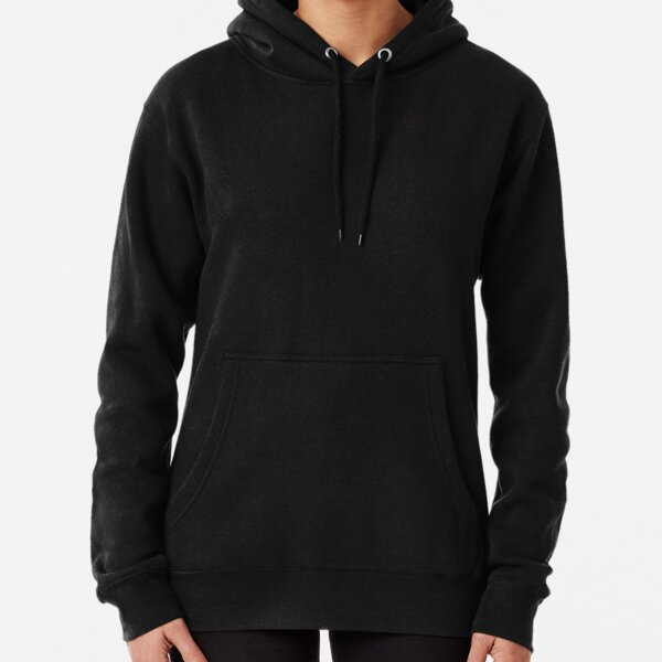 Plain Colors with Black Semi Circles Pullover Hoodie