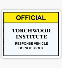 Torchwood Response Vehicle Sticker