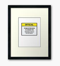 Torchwood Response Vehicle Framed Print