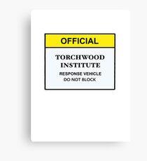 Torchwood Response Vehicle Canvas Print